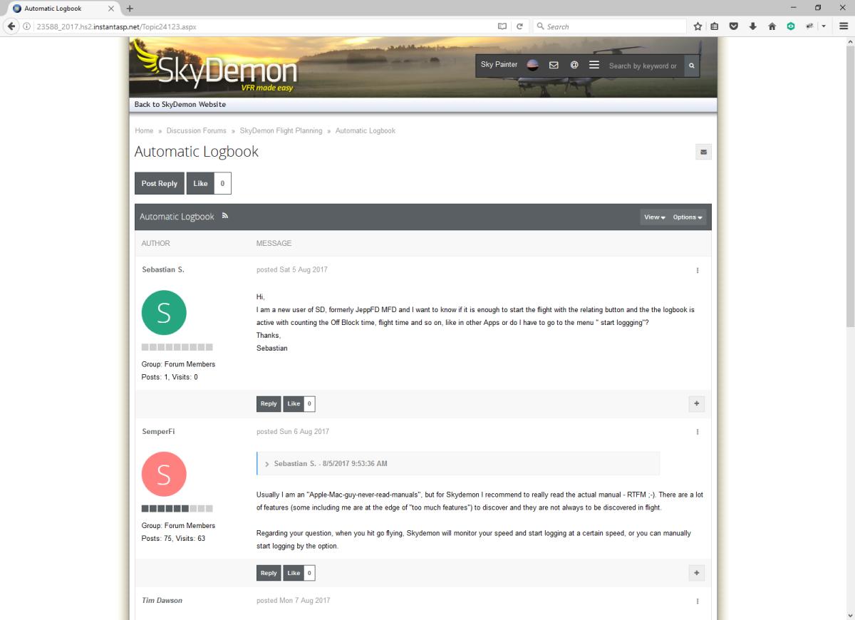 New Forum Interface